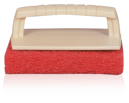 RED SCRUB PAD 	(ONE PIECE CONSTRUCTION)