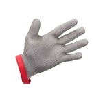 5 Finger Metal Mesh Glove with Textile Strap