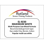 RUTLAND 9230 NPT MAXIMUM WHITE INK