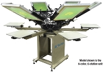 Rototex II Manual Textile Screen Printer - 6 Color, 6 Station, 15