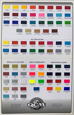 QCM Ink Color Card