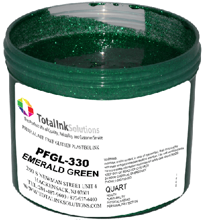 TOTAL INK SOLUTIONS GL-330 EMERALD GREEN GLITTER INK