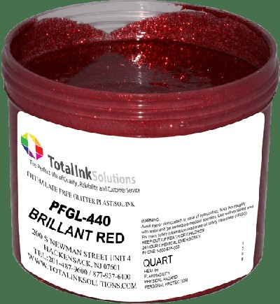 TOTAL INK SOLUTIONS GL-440 BRILLIANT RED GLITTER INK